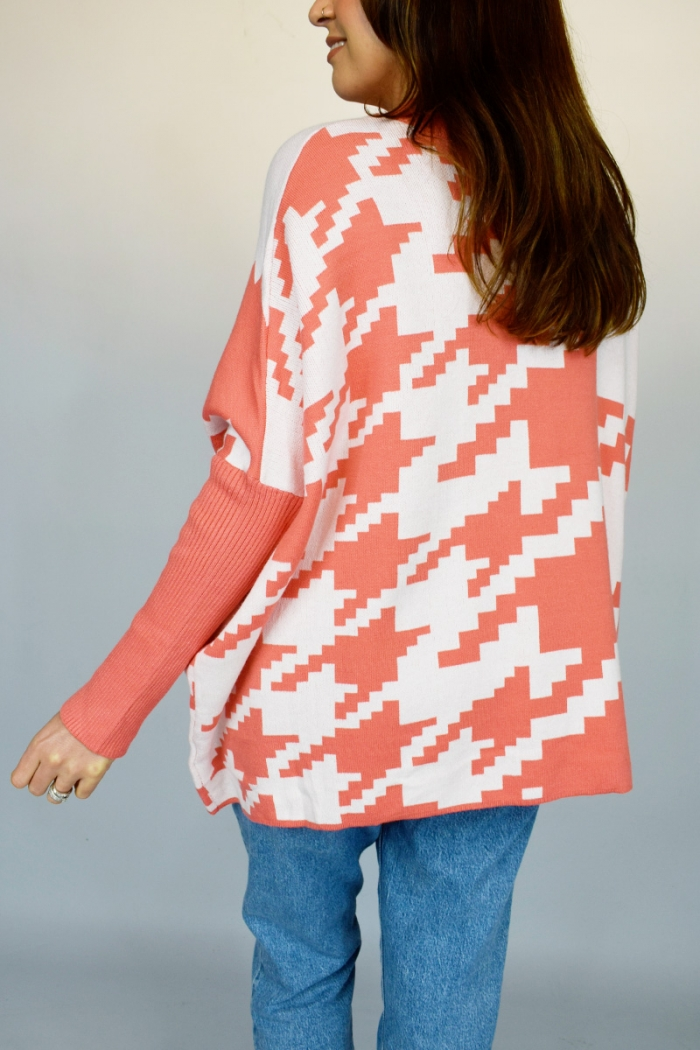 Oversized Dog Tooth Jumper